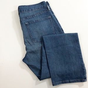 NYJD Jeans Straight 10 Petite Lift Tuck Pants Blue